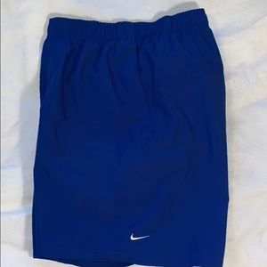 Men's LNC blue Nike swim trunks. Size XL
